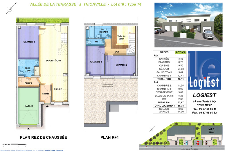 Construction de 7 logements bbc all e de la terrasse thionville logiest - Exoneration taxe fonciere construction neuve bbc ...